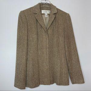 Vintage 90's DonCaster Silk Brown Tweed Pantsuit